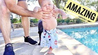 Baby Walking at 6 Weeks! (Kinda)