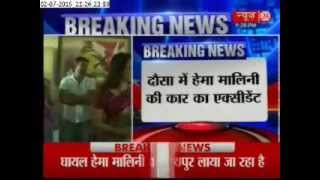 Hema Malini injured in road accident, admitted to hospital