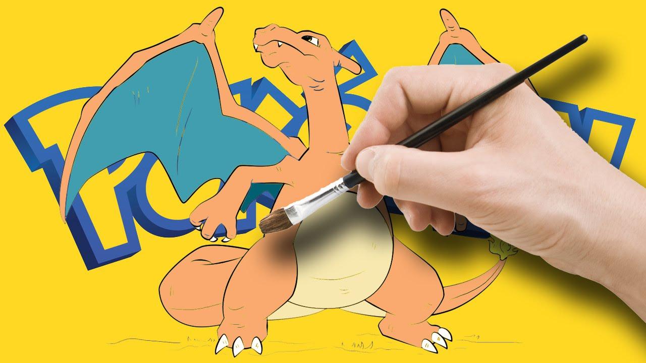 pokemon go charizard color book amp pokemon color pages youtube