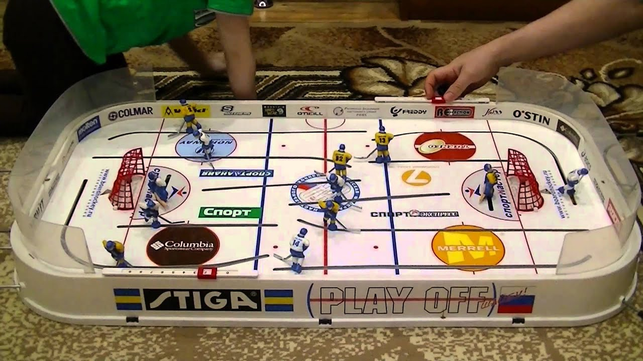 Настольный хоккей Обзор настольной игры хоккей СССР Table hockey .