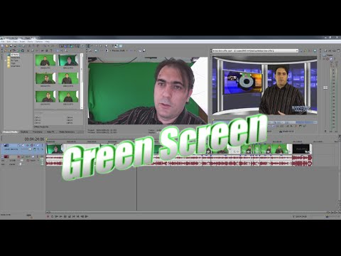 How to chroma key Green Screen with Sony Movie Studio Platinum