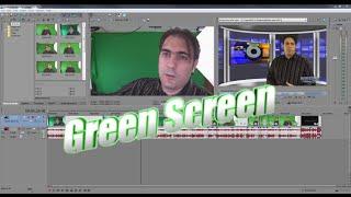 How to chroma key Green Screen with Sony Movie Studio Platinum