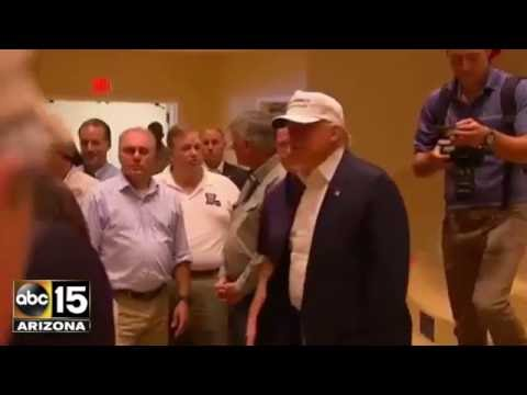 Devastating! Donald Trump & Gov. Mike Pence visit flooded ...