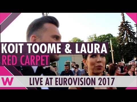 Koit Toome and Laura (Estonia) Interview @ Eurovision 2017 Red Carpet Opening Ceremony | wiwibloggs