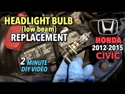 Honda Civic Headlight Bulb Replacement 2012-2015 – 2 Minute DIY Video