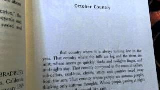 Reading exerpt The October Country by Ray Bradbury