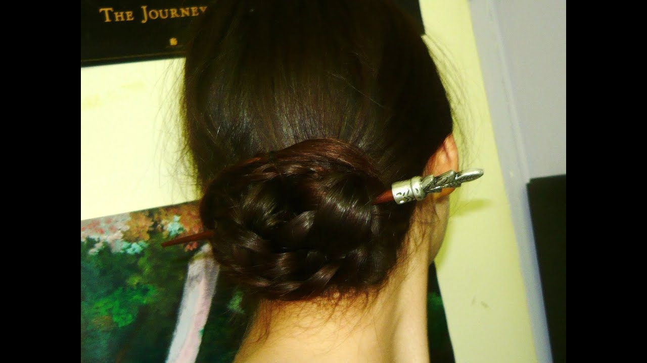 2 Minute Hairstyle Chinese Bun Youtube