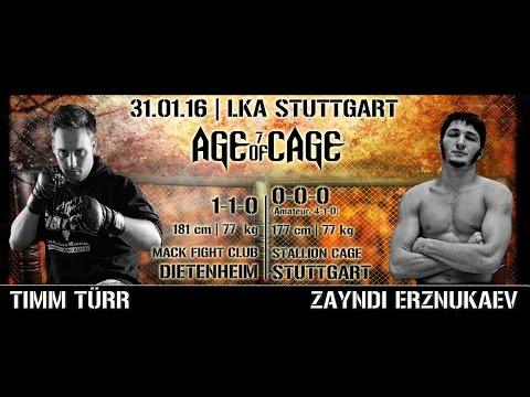 Timm Türr vs. Zayndi Erznukaev | AGE OF CAGE 7 | [MMA Event Stuttgart]