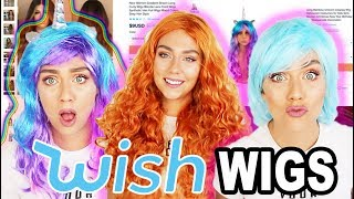 TRYING ON WIGS FROM WISH !