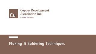 Fluxing & Soldering Techniques