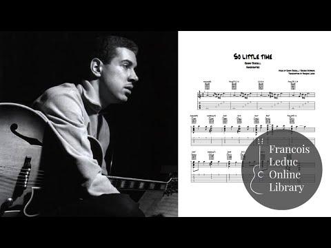 So Little Time - Kenny Burrell (Transcription)