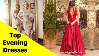 Top 50 beautiful Evening dresses with sleeves, long evening dresses for women S2