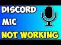 DISCORD MIC NOT WORKING! *FIX!*