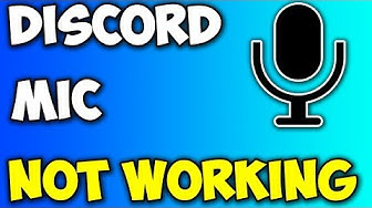 DISCORD MIC NOT WORKING! *FIX!*