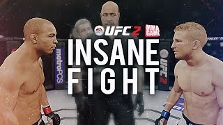Crazy ONLINE Title Fight! - EA SPORTS UFC 2 Ranked Championship Gameplay