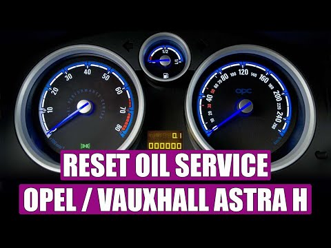 Service light reset  oil service Opel Astra H in 4 STEPS