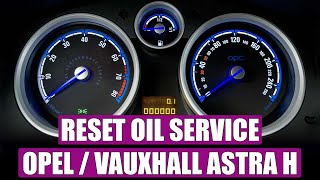 Service light reset / oil service Opel Astra H in 4 STEPS
