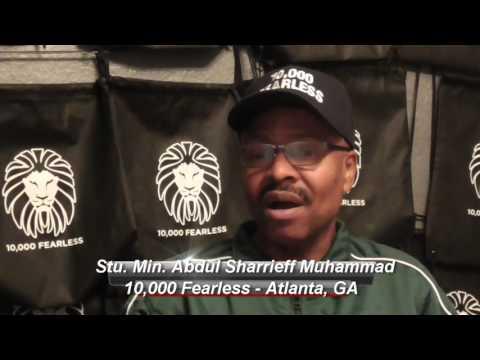10,000 Fearless in Atlanta GA with Min. Sharrieff Muhammad