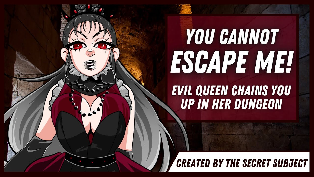 ASMR Evil Queen Chains You Up in Her Dungeon! (Hypnotic Slave Training and Resistance Play)