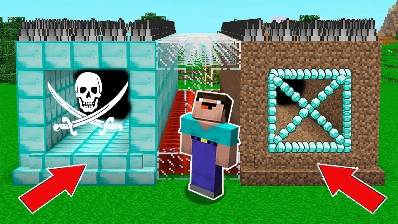 Minecraft NOOB vs PRO : WHICH TUNNEL CHOOSE TO SURVIVE? DIAMOND VS DIRT! Animation!