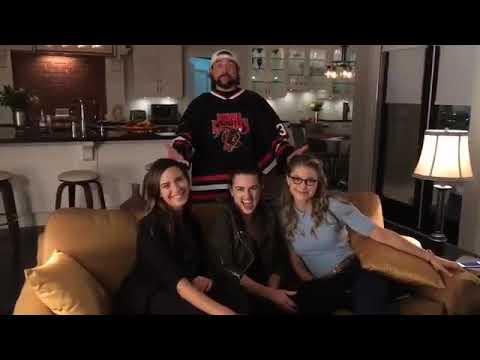 Odette Annable, Katie McGrath and Melissa Benoist on set of Supergirl.