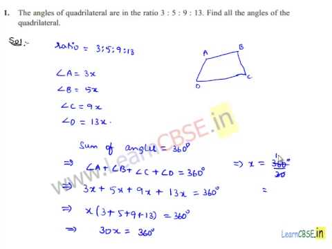 Quadrilaterals Angle Sum Property In A Quadrilateral Youtube