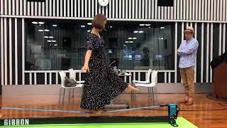 2年のブランクを瞬殺! 田中理恵さんスラックラインに挑戦!! 田中理恵 検索動画 13