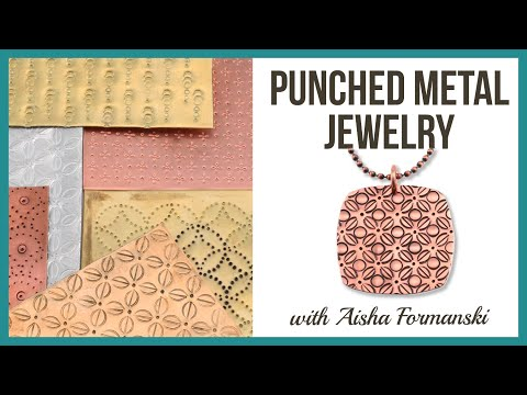 Punched Metal Jewelry Tutorial - Beaducation.com