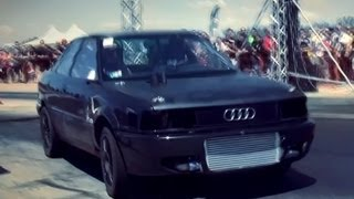 vuclip BMW E30 Turbo Breki Vs. Audi 80 Quattro Turbo 680 HP