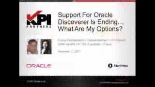 PT 1: What Is Oracle Discoverer? [Support For Oracle Discoverer Is Ending... What Are My Options]