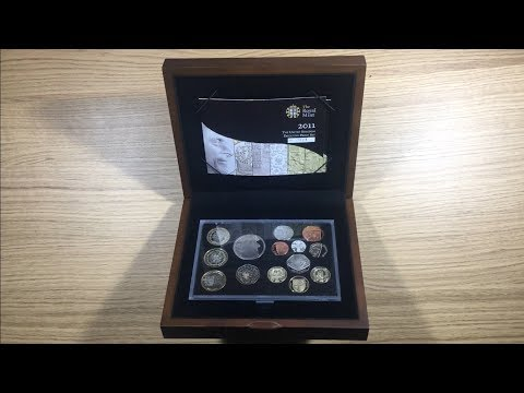 *RARE* 2011 EXECUTIVE PROOF COIN SET || UNRELEASED 50P || CARDIFF & EDINBURGH £1 COIN || ROYAL MINT