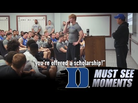 Duke Football: Former Walk-On Danny Doyle Is Surprised By Scholarship Offer