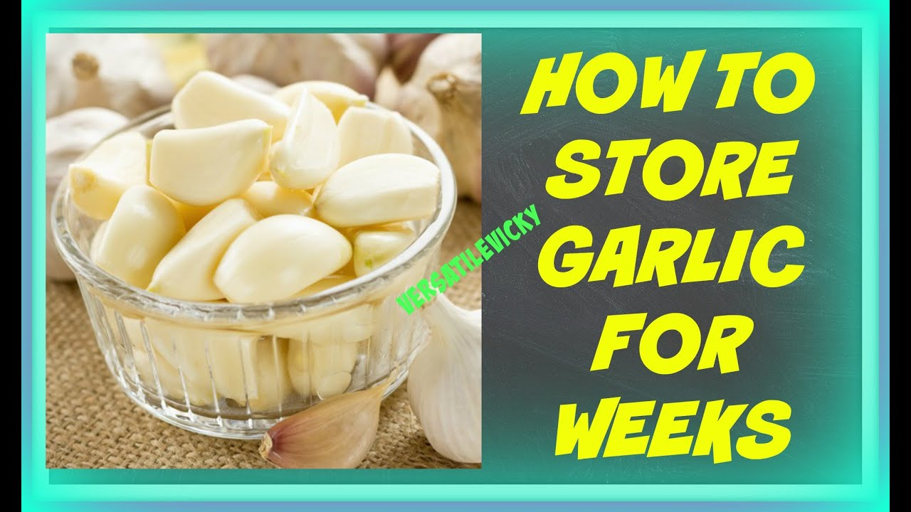 how to store fresh garlic from the garden