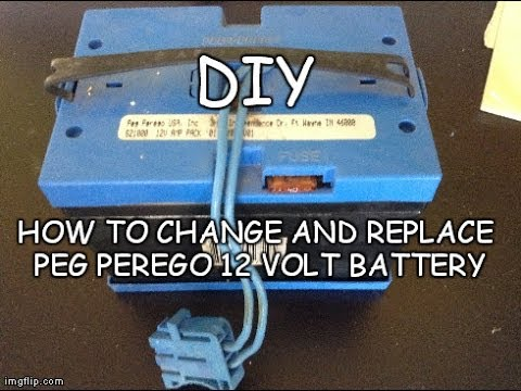 hqdefault diy how to change replace peg perego 12 volt battery peg peg perego gator wiring harness at bakdesigns.co