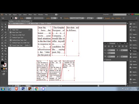 how to type link column in illustrator? It is very Easy. By Niem reza