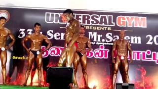 SALEM Mr.TAMIL NADU   YUVARAJ MUSIC POSE
