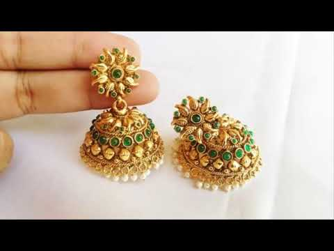 Latest Gold Earring  Gold Jhumka   Designs 2018 New Collection