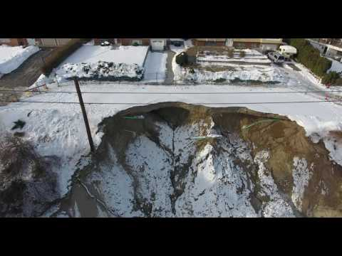 Urban Systems - Peachland Landslide - Drone footage
