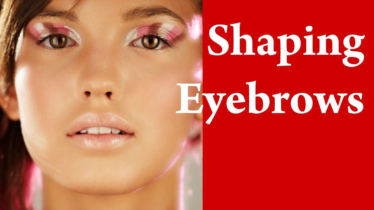 Eyebrow Shaping Tutorial Megan Fox In Photoshop Youtube