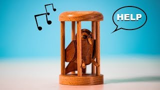 Solving the VERY Hard OWL in a Cage Puzzle!! (Can you set him free?)