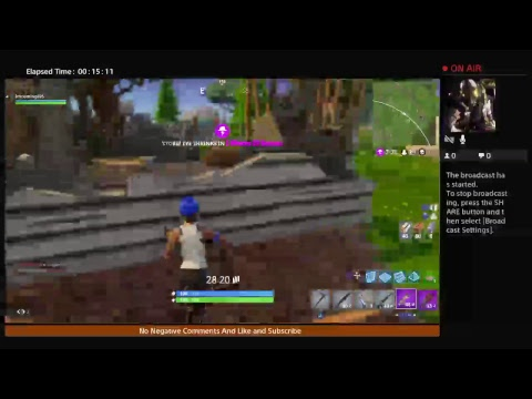 Imcoming695's Live PS4 Broadcast FORNITE ONLINE !! Battle Royale