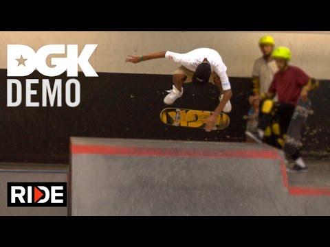 DGK - Dane Vaughn, Lenny Rivas, Kevin Scott Killing the Demo at Vans Skatepark