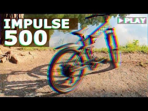 Новый IMPULSE 500   На что он способен? Горный складной электровелосипед на 500W и 48V/14Ah!