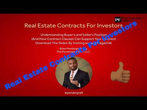 Real Estate Contracts For Investors - Understanding Buyer's and Seller's Position