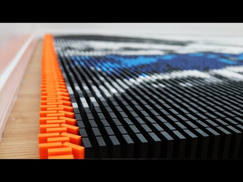 Domino Artist Builds Peter McKinnon's Bucket Shot