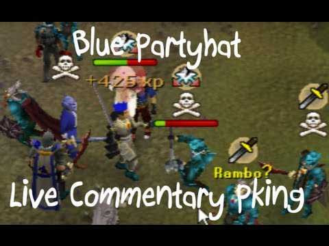 Blue Partyhat Pking | Live Commentary | Max Str
