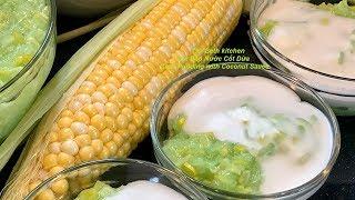 Vietnamese Corn Pudding with Coconut Sauce  _ Che Bap