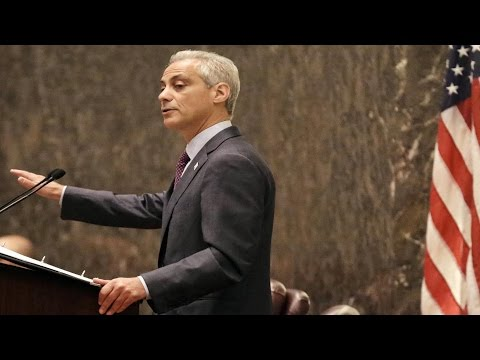 Chicago mayor holds a news conference