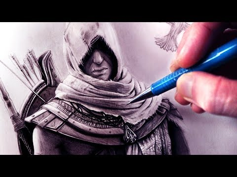Let s Draw ASSASSIN S CREED ORIGINS - BAYEK - FAN ART FRIDAY