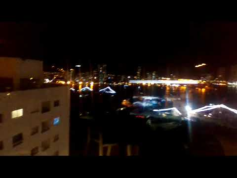 Life in Cartagena,Colombia night time